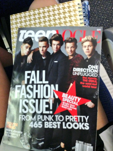 My reading on the plane
