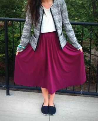 Berry Skirt- Asos